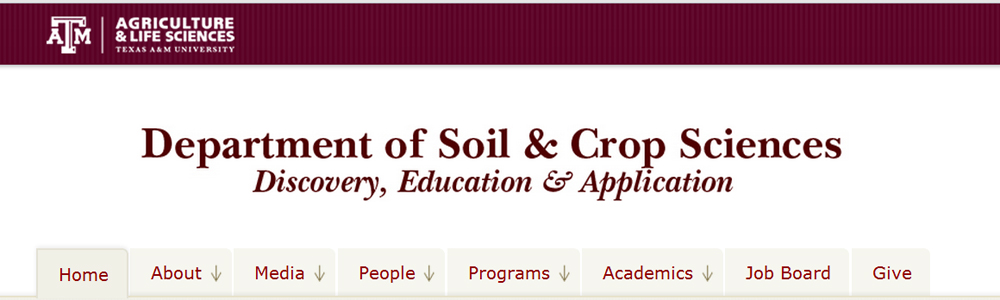 Department of Soil and Crop Sciences header